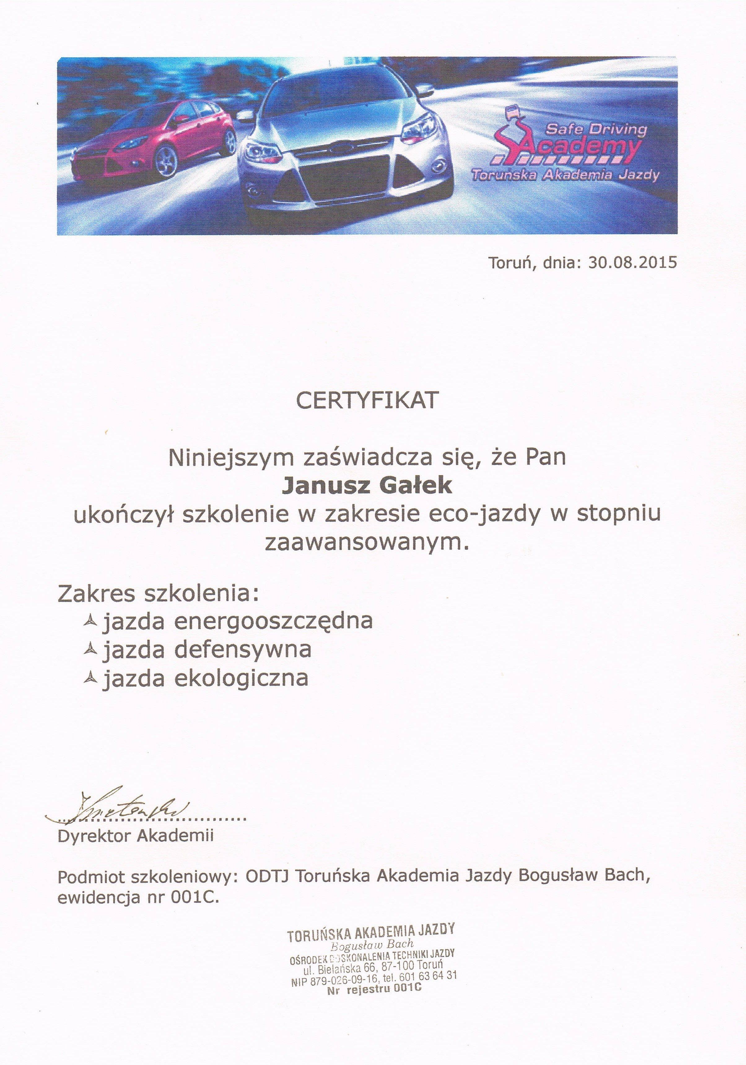 szkoła z certyfikatem